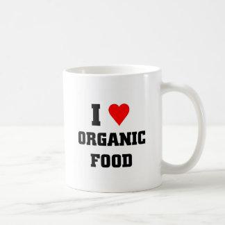 I love Organic Food Basic White Mug
