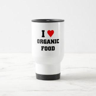 I love Organic Food Stainless Steel Travel Mug