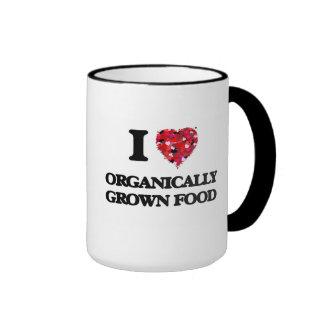 I Love Organically Grown Food Ringer Mug