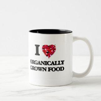 I Love Organically Grown Food Two-Tone Mug