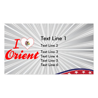 I Love Orient, Illinois Business Card Templates