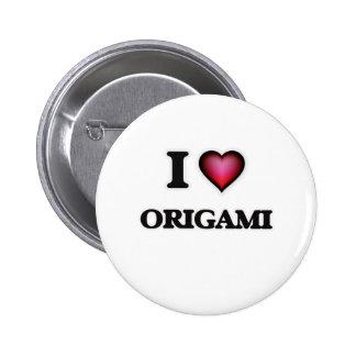 I Love Origami 6 Cm Round Badge