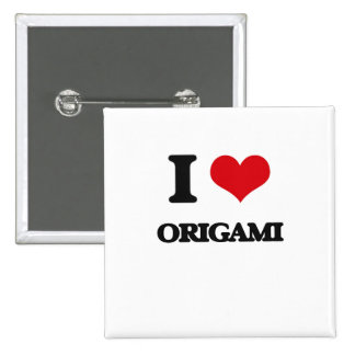 I Love Origami 15 Cm Square Badge