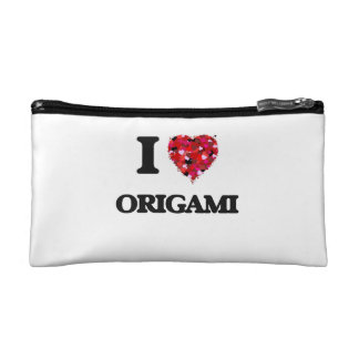 I Love Origami Cosmetic Bags