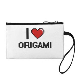 I Love Origami Digital Retro Design Coin Wallets