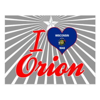 I Love Orion, Wisconsin Postcards