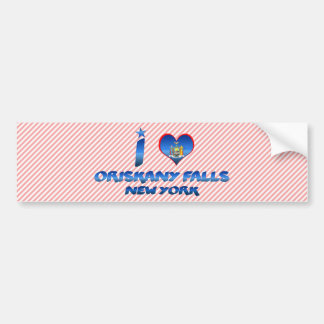 I love Oriskany Falls, New York Bumper Stickers