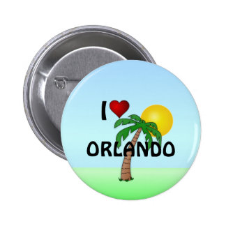 I Love Orlando 6 Cm Round Badge