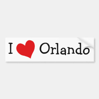 I Love Orlando Bumper Sticker