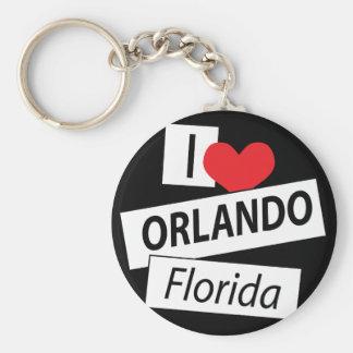 I Love Orlando Florida Basic Round Button Key Ring