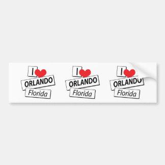 I Love Orlando Florida Bumper Sticker