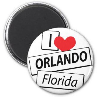 I Love Orlando Florida Refrigerator Magnets