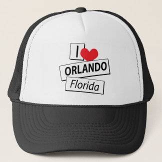 I Love Orlando Florida Trucker Hat