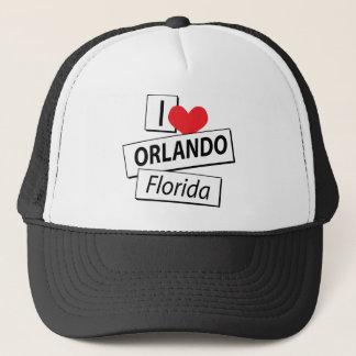 I Love Orlando Florida Trucker Hat