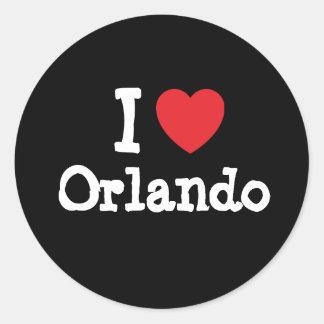I love Orlando heart custom personalized Classic Round Sticker