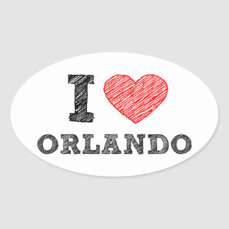I-Love-Orlando Oval Sticker