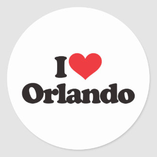 I Love Orlando Round Sticker