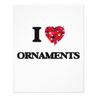 I Love Ornaments 11.5 Cm X 14 Cm Flyer