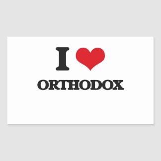 I Love Orthodox Rectangular Sticker