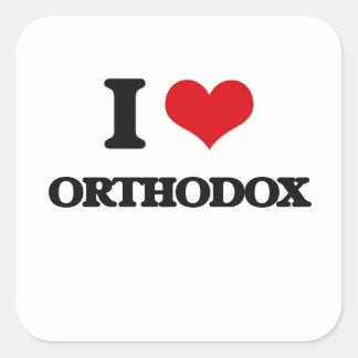 I Love Orthodox Square Sticker