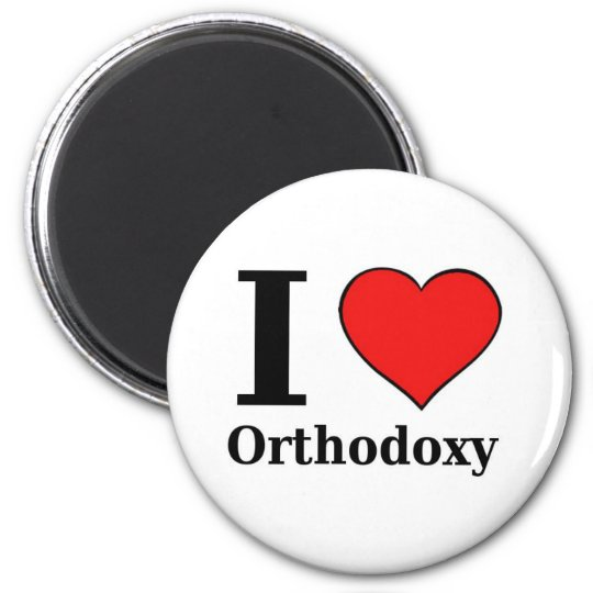 I love Orthodoxy - Button 6 Cm Round Magnet
