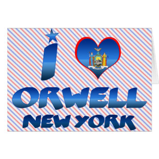 I love Orwell, New York Cards