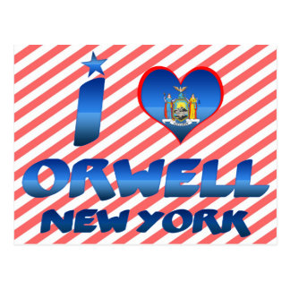 I love Orwell, New York Post Cards