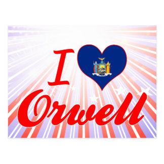 I Love Orwell, New York Postcard