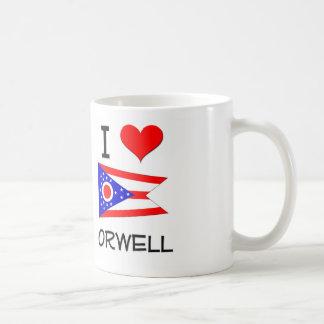 I Love Orwell Ohio Basic White Mug