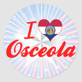 I Love Osceola Missouri Sticker