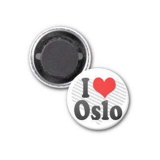 I Love Oslo, Norway Fridge Magnets