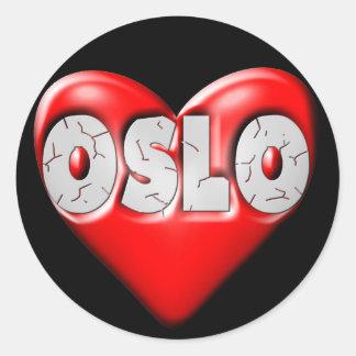 I Love Oslo Norway Round Sticker