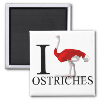 I Love Ostriches Magnets