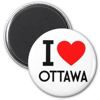 I Love Ottawa 6 Cm Round Magnet