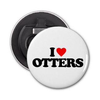I LOVE OTTERS BOTTLE OPENER