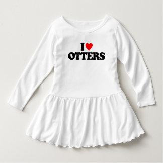I LOVE OTTERS DRESS