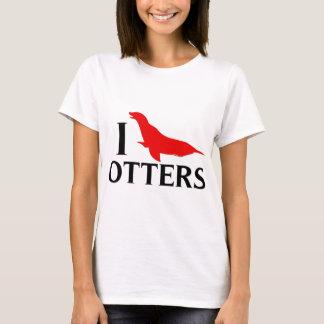 I Love Otters, I Love Sea Lions T-Shirt