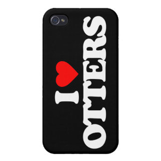 I LOVE OTTERS iPhone 4 CASE
