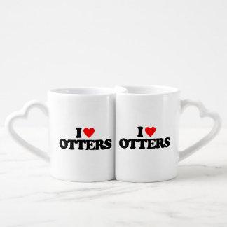 I LOVE OTTERS LOVERS MUG