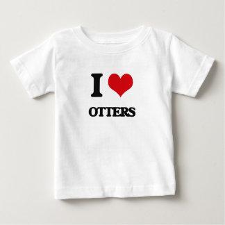 I love Otters T Shirt
