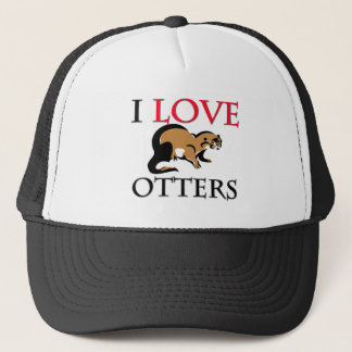 I Love Otters Trucker Hat