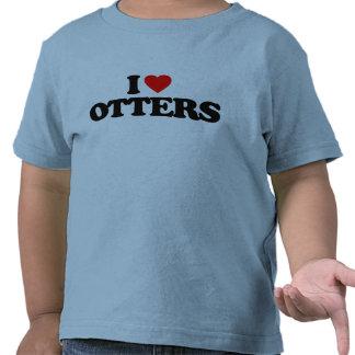 I LOVE OTTERS TEES