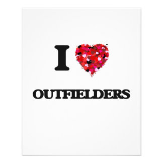 I Love Outfielders 11.5 Cm X 14 Cm Flyer