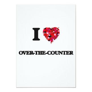 I love Over-The-Counter 13 Cm X 18 Cm Invitation Card