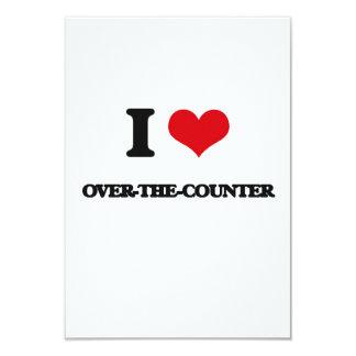 I love Over-The-Counter 9 Cm X 13 Cm Invitation Card