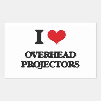 I Love Overhead Projectors Rectangle Sticker
