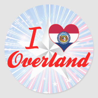 I Love Overland, Missouri Round Stickers