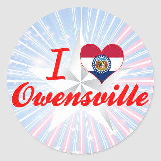 I Love Owensville Missouri Sticker