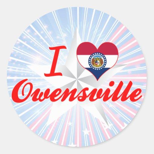 I Love Owensville, Missouri Sticker