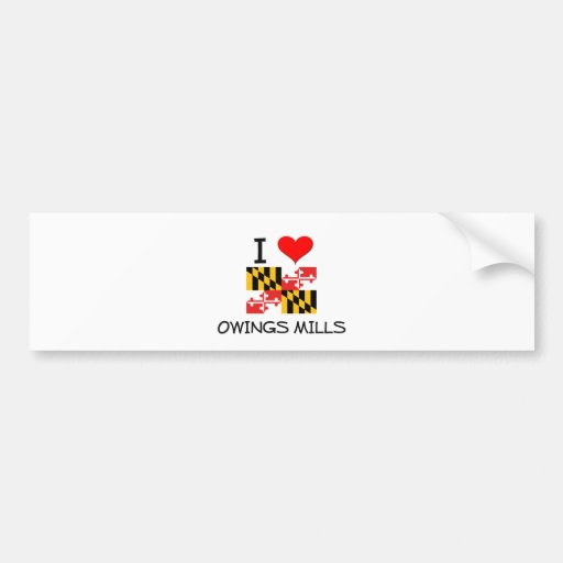 I Love Owings Mills Maryland Bumper Sticker